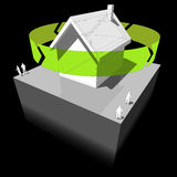 Recycling house diagram Stock Photo