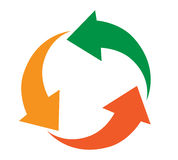 Recycling icon Design Royalty Free Stock Photo