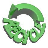 Recycling icon green Royalty Free Stock Photo