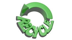 Recycling icon green stock video