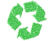 Recycling icon made of bubbles Stock Photography