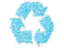 Recycling icon made of bubbles Stock Photo