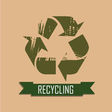 Recycling icon Stock Photography
