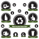 Recycling Icon Set royalty free illustration