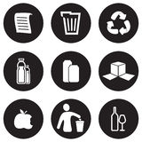 Recycling icon set Royalty Free Stock Images