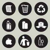 Recycling icon set. Vector illustration of the Recycling icon set Stock Photo