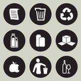 Recycling icon set Stock Photo