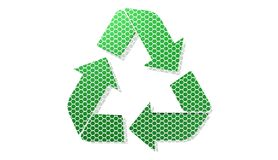 Recycling icon, sign,3D illustration Royalty Free Stock Photo
