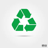 Recycling Icon. Sustainable and responsible acting Symbol. Royalty Free Stock Images
