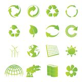Recycling icons Stock Photos