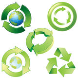 Recycling icons. Stylized recycling icons for your design. To see similar - please visit at my gallery Royalty Free Stock Photo