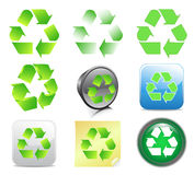 Recycling icons. Vector illustration of recycling icons Royalty Free Stock Images
