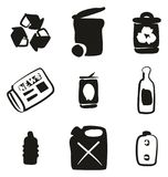 Recycling Icons Freehand Fill. This image is a vector illustration and can be scaled to any size without loss of resolution Stock Photography