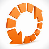 Orange recycling icons Royalty Free Stock Photos