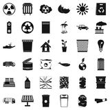 Recycling icons set, simple style Stock Images