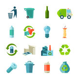Recycling Icons Set Royalty Free Stock Image