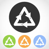 Recycling icons. Vector illustration. Royalty Free Stock Photos