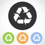 Recycling icons. Vector illustration. Royalty Free Stock Image