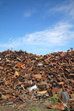 Recycling industry, heap of old metal Royalty Free Stock Photography