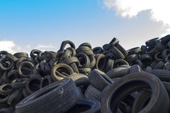 Recycling industry. Tires Recycling. Mix Tires for Recycling royalty free stock image
