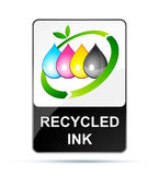 Recycling inkjet. Isolated on white stock illustration