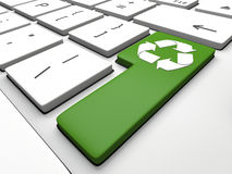 Recycling key Royalty Free Stock Images