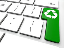 Recycling key Royalty Free Stock Image
