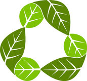 Recycling leaf Royalty Free Stock Images