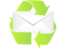 Recycling letter Royalty Free Stock Photos