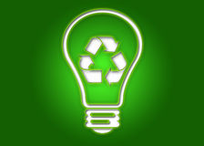 Recycling light bulb. Vector illustration of an ecological lamp. Good for recycling Royalty Free Stock Photos