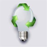Recycling lightbulb Royalty-vrije Stock Afbeeldingen