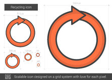Recycling line icon. Royalty Free Stock Photos