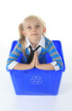 Recycling little girl Royalty Free Stock Photos