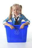 Recycling little girl Royalty Free Stock Images