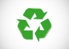 Recycling logo Royalty Free Stock Photos
