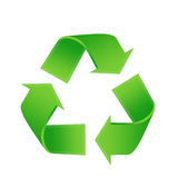 Recycling logo. Illustration in green vector illustration