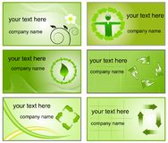Recycling logos and business cards templates Stock Image