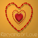 Recycling of Love Royalty Free Stock Photography
