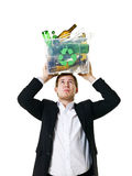 Recycling man Stock Photography