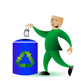 Recycling man graphic royalty free illustration