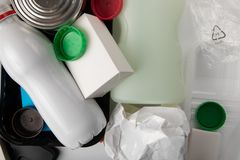 Recycling medical waste stock images