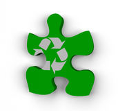 Recycling is the missing piece Stock Photography