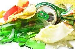 Recycling. Mixed trash closeup Royalty Free Stock Photos