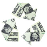 Recycling Money Stock Image