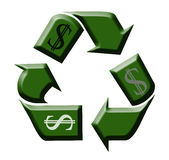 Recycling Money. In the day of economic crisis Stock Image