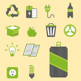 Recycling nature icons waste sorting environment creative protection symbols vector illustration. Recycling sorting nature icons waste sorting environment Stock Photo