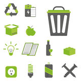 Recycling nature icons waste sorting environment creative protection symbols vector illustration. Stock Photos