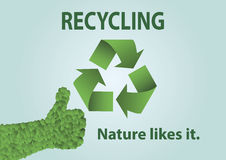 Recycling.Nature le gusta él. Fotografía de archivo libre de regalías