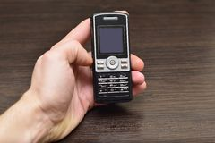 Recycling old cell mobile phones Royalty Free Stock Image