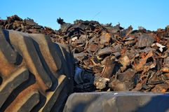 Recycling old tires Royalty Free Stock Images